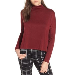 Leith Funnel Neck Melange Top